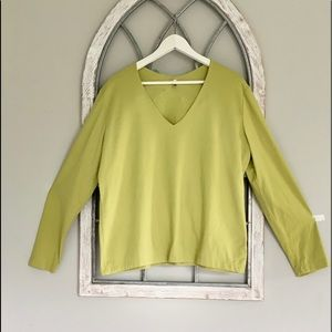 White Stag green mint blouse
